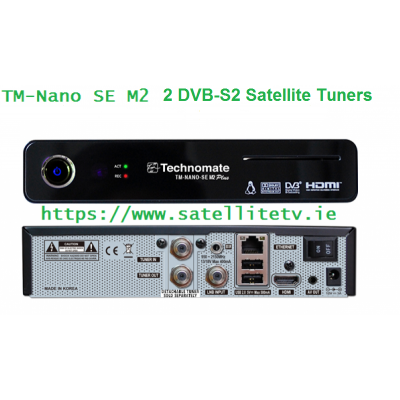 Technomate Nano SE M2 Plus Satellite Twin Receiver 2 x DVB-S2