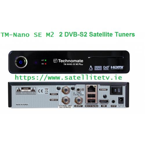 Technomate Nano SE M2 Plus Satellite Twin Receiver 2 x DVB-S2
