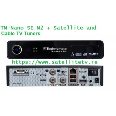 Technomate Nano SE M2 Plus Satellite + Cable HD Receiver