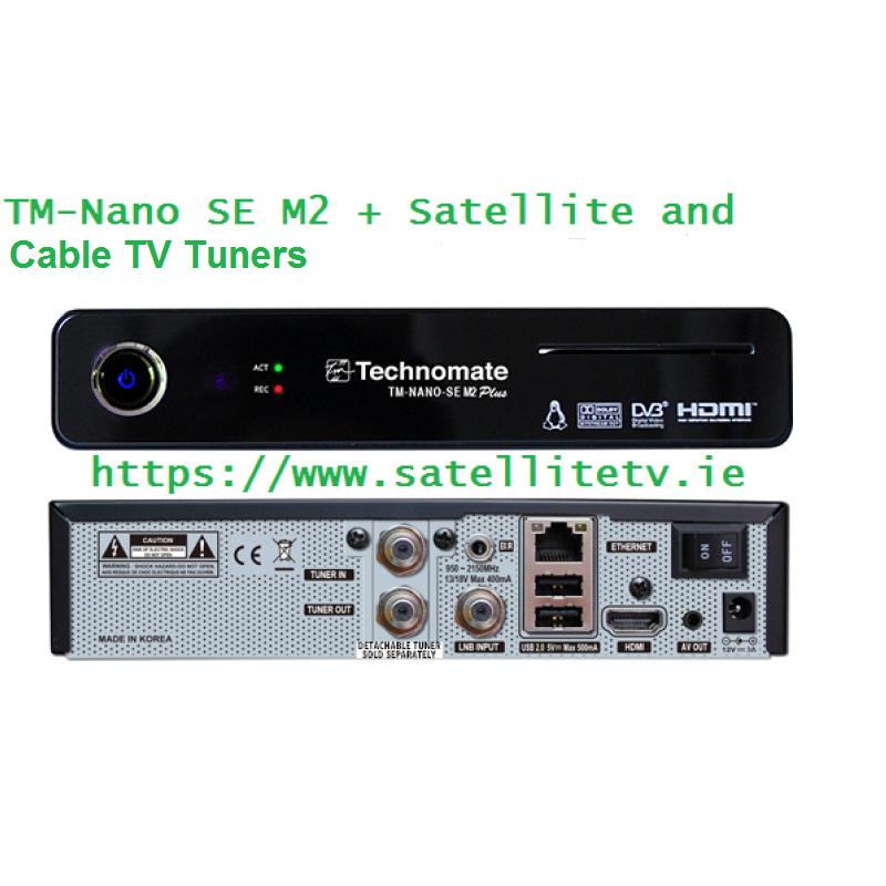 Technomate Nano SE M2 Plus Satellite + Cable HD Receiver