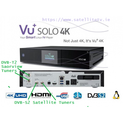 VU+ Solo 4K Linux UHD 4 Tuners