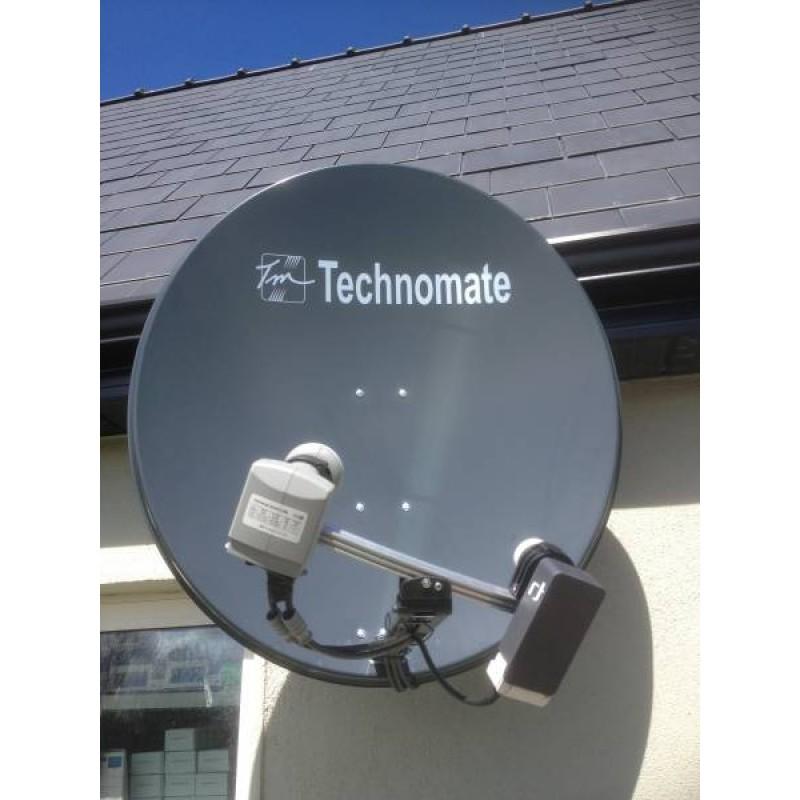 Saorsat and Freesat Fixed 97cm Dish + HD Receiver