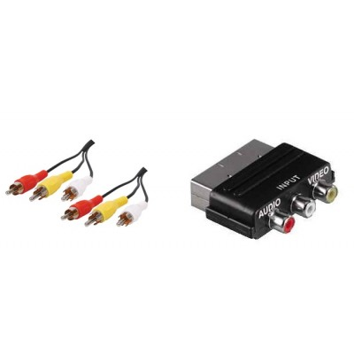 Scart Input Adaptor and Phono Cables