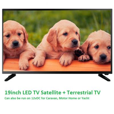 BORC LED Saorview + Satellite TV 1080p  19inch 12V DC