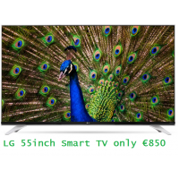 LG 55 inch LED Smart OS 4K-UHD TV - 2 Tuners Satellite + Saorview