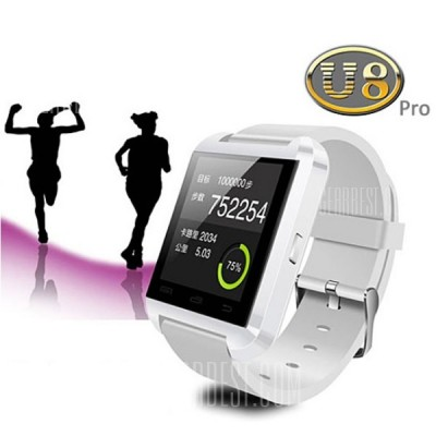 Bluetooth Smart Watch for Android Mobile Phones - White
