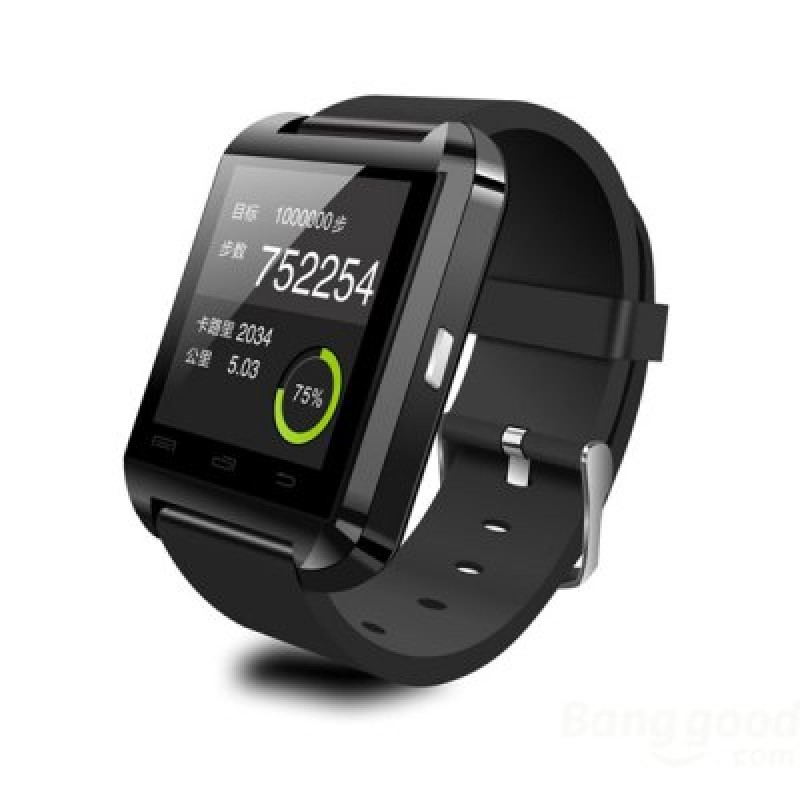 Bluetooth Smart Watch for Android Mobile Phones - Black