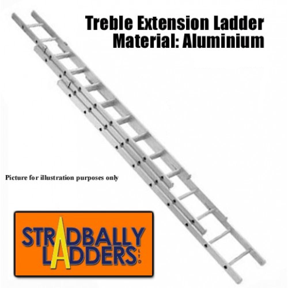 Triple Extension 30ft Aluminium Ladder Satellite Tv Ireland