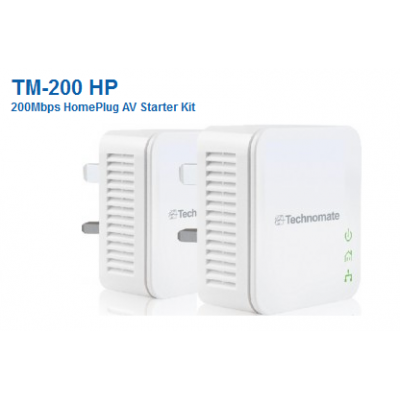 Technomate TM-200 HP 200Mbps Homeplugs x 2