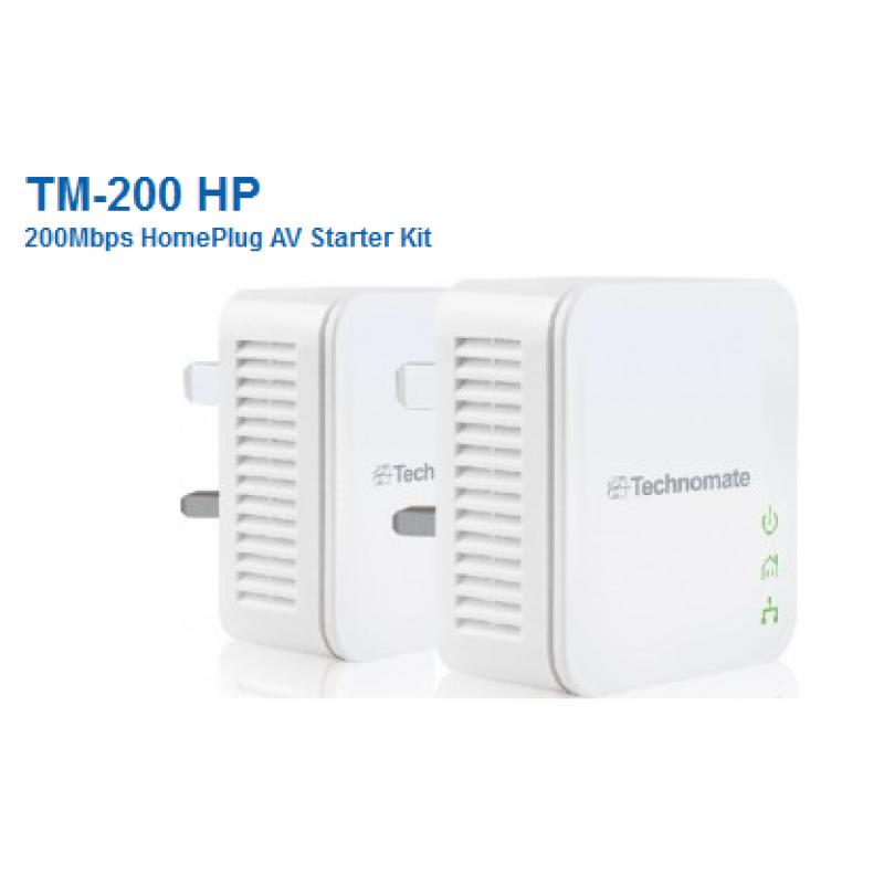 Technomate TM-200 HP 200Mbps Homeplugs x 2