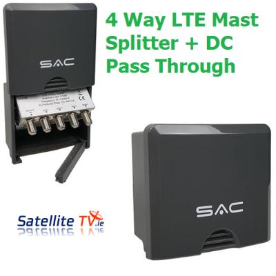 4 Way LTE Masthead/Outdoor Splitter + DC Pass Through