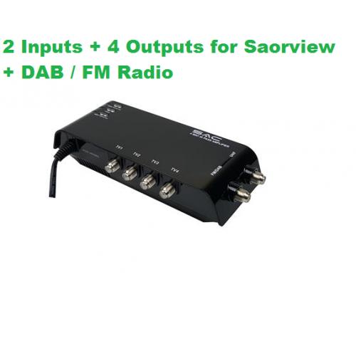 4 Way Indoor UHF/DAB Sky IR Pass Amplifier