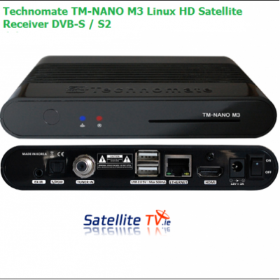 Technomate TM-Nano M3 Linux HD Satellite Receiver DVB-S / S2