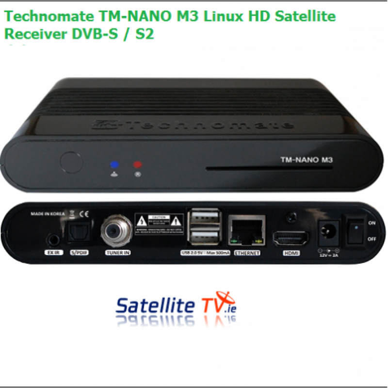 Technomate TM-Nano M3 Linux HD Satellite Receiver DVB-S / S2