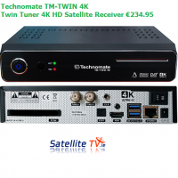 Technomate TM-Twin 4K -  Triple Tuner Satellite + Saorview
