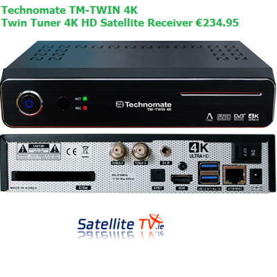 Technomate TM-Twin 4K -  Twin Tuner 4K UHD Satellite Receiver