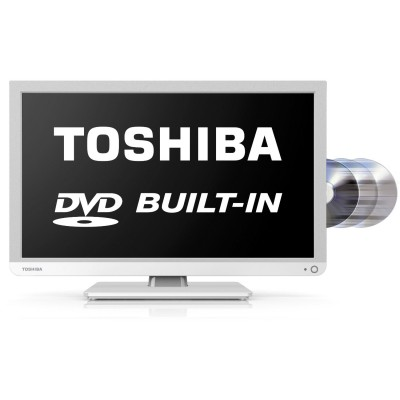 "Toshiba 24""  HD LED TV with Built-In DVD Player"