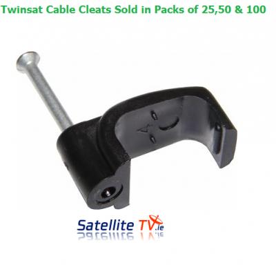 Twinsat RG6 / TX 100 BLACK Clips x 100