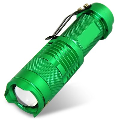 UltraFire SK68 300 Lumens Zoom LED Flashlight - Green