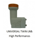 Universal Twin LNB 0.1db - 2 Outputs - High Performance