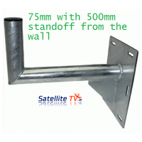 L-Shaped Wall Bracket 75mm (3inch) 500mm Standoff