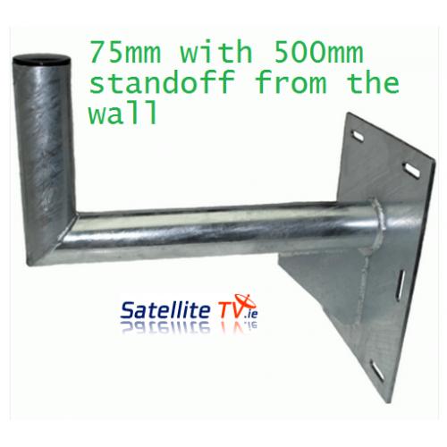 L-Shaped Wall Bracket 75mm (3inch) 500mm Standoff