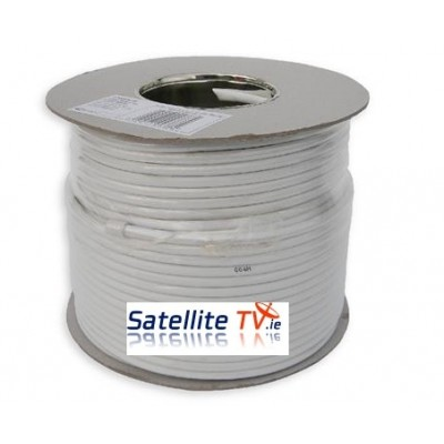 White RG59 CCTV Cable (100m)
