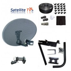 Raven / Sky Zone 2 Satellite Dish + 4K Quad LNB + 25m Twinsat Cable